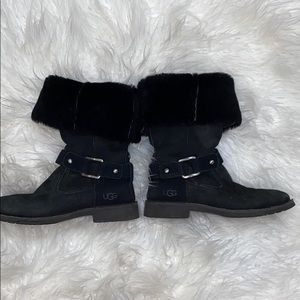 Authentic black Ugg boots